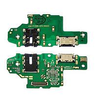 Разъём зарядки для HUAWEI Nova 2S на плате с микрофоном и компонентами (USB Type-C)