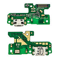 Разъём зарядки для HUAWEI P8 Lite (2017) (PRA-L11/PRA-L21)/ Honor 8 Lite на плате с микрофоном и компонентами