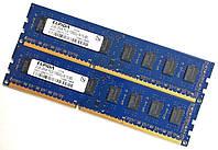 Пара оперативной памяти Elpida DDR3 4Gb (2Gb+2Gb) 1333MHz PC3-10600U CL9 (EBJ21UE8BDF0-DJ-F) Б/У, фото 1