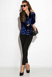 Рубашка женская 121P011 (Индиго)