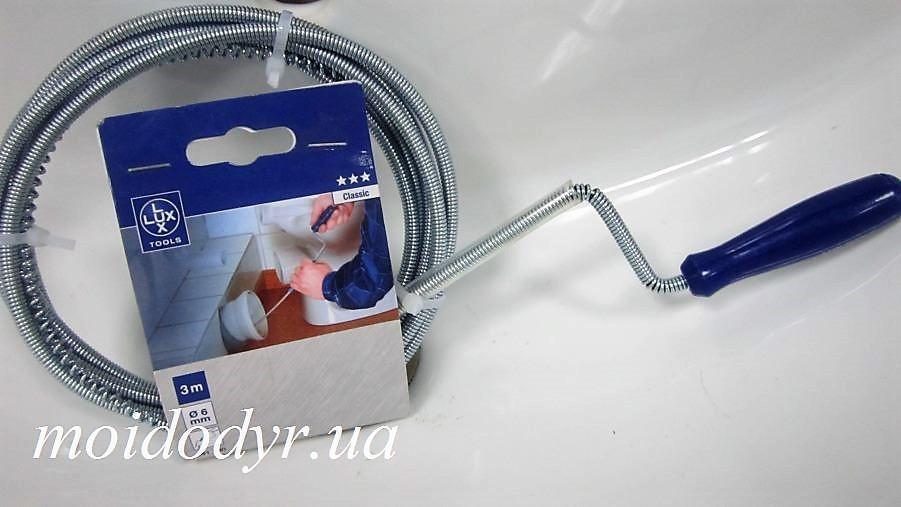 Тросик для чистки канализационных труб Emi-lux  3м