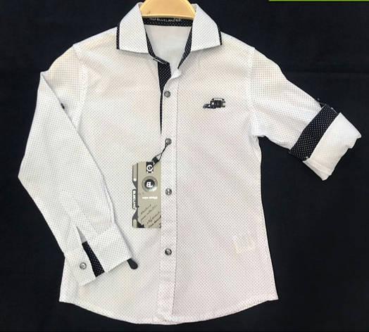 Нарядная школьная рубашка на мальчиков 110,116,122,128 роста Первоклашки, фото 2