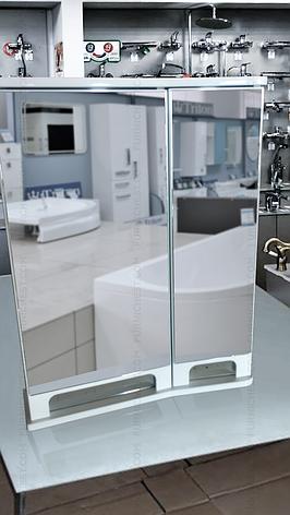 Дзеркальна шафа для ванної кімнати Венеція Вз 1-55п ( біле, праве ) ВанЛанд, фото 2