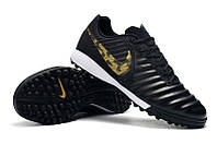 Футбольные сороконожки Nike Tiempo Legend VII Academy TF Black/Metallic Gold, фото 1