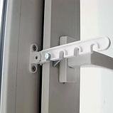 Ограничитель открывания окна металлический белый, фото 5