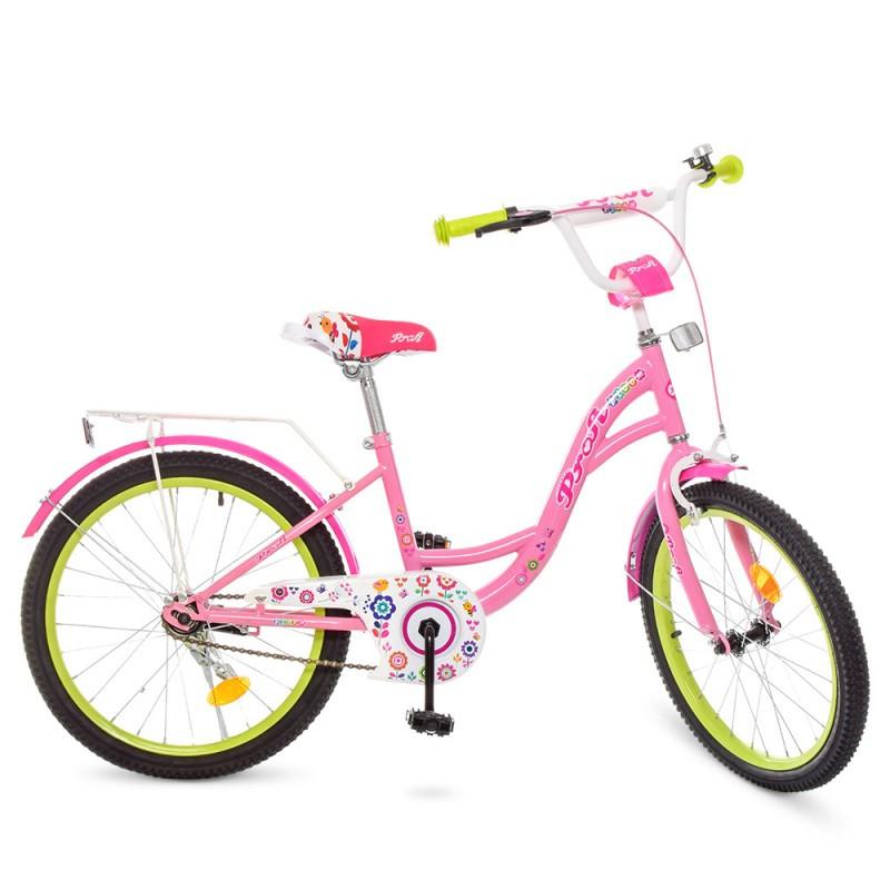 Детский двухколесный велосипед для девочкиPROFI 20 дюймов (розовый),Bloom Y2021-1