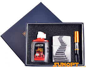 SALE!Подарочный набор 3в1 Зажигалка, бензин, мундштук №4722-3