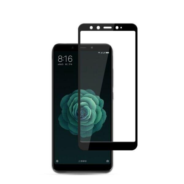Защитное Стекло Full GLUE 2.5D Xiaomi Mi 6X/A2 (Черный)