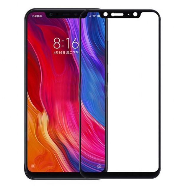 Защитное Стекло Full GLUE 2.5D Xiaomi Mi 8 SE (Черный)