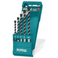 Акс.инстр TOTAL TACSD5051 Набор сверл по кирпичу 4шт, d=4-10мм.