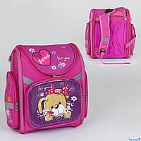 Рюкзак школьный каркасный C 36194 (40) 1 отделение, 3 кармана, спинка ортопедическая, 3D принт