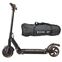 Надежный электросамокат Kugoo S3 Black Черный  +Сумка в подарок! - запас хода до 30 км, скорость до 35 км/час