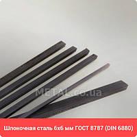 Шпоночная сталь 6х6 мм DIN 6880,  ГОСТ 8787-68 - Шпоночный материал