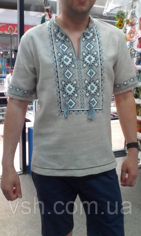 """Мужская вышитая сорочка """"Любомир"""". Ручная работа. Мережки."""