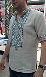 """Мужская вышитая сорочка """"Любомир"""". Ручная работа. Мережки., фото 2"""