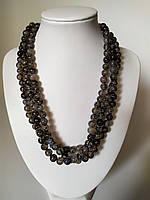 """Ожерелье из натурального камня Агат """"Вены  дракона"""", серебро 925"""