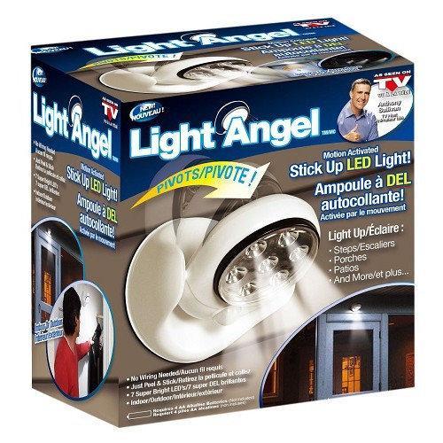 Беспроводной светильник Light Angel 7 LED с датчиком движения