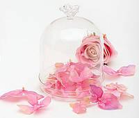 Бонбоньерка стеклянная с розой, 15 см BonaDi 339-D15