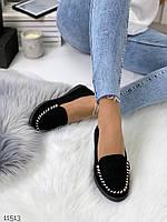 Женские туфли мокасины с декором, фото 1