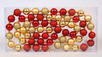 Декоративная гирлянда из шаров по 3 см BonaDi 105-821