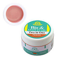Global Fashion Биогель 2 в 1, Bio&Light UV Gel Peach, персиковый, 15 г