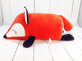 Мягкая игрушка подушка валик Strekoza Фокси 45 см красный средняя