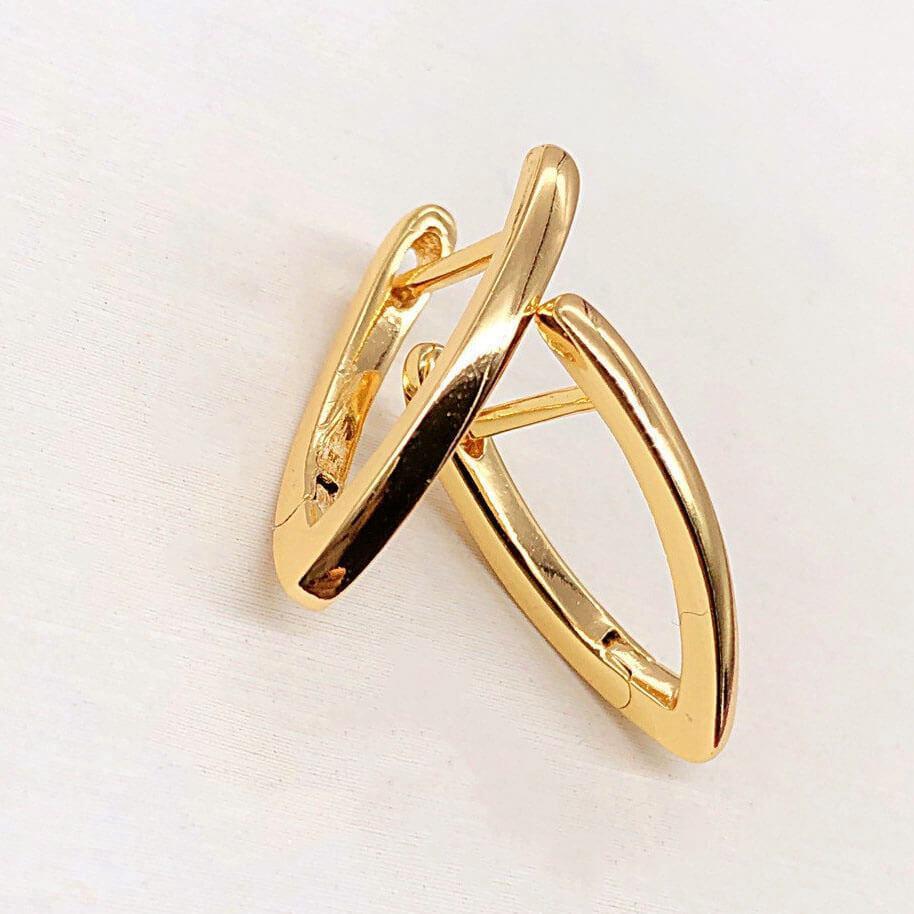 Серьги Xuping Jewelry Таира медицинское золото, позолота 18К, английский замок. А/В 3887