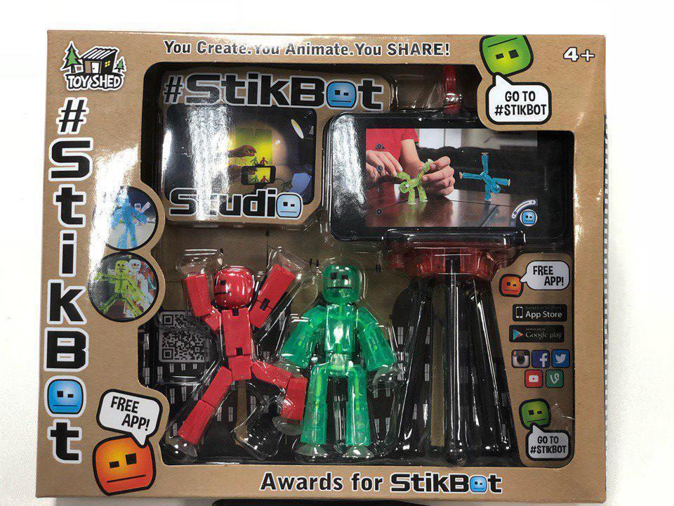 StikBot Игровой набор Стикбот со штативом для снятия мультиков