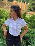 Модная блуза для девочки,ткань стрейч бенгалин,размеры:122,128,134,140., фото 2
