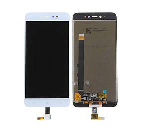 Дисплей (экран) для Xiaomi Redmi Note 5A Prime + с сенсором (тачскрином) белый 2/16 Gb Оригинал