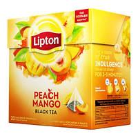 Чай пакетований чорний LIPTON Peach Mango 20 пакетиків-пірамідок