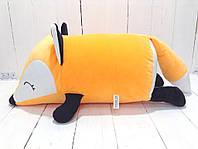 Мягкая игрушка подушка валик Strekoza Фокси 45 см оранжевый средняя, фото 1