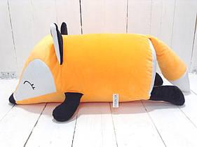 Мягкая игрушка подушка валик Strekoza Фокси 45 см оранжевый средняя