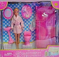 """Игровой набор """"Комната принцессы"""" / Кукла Defa Lucy 8378 с мебелью для спальни"""