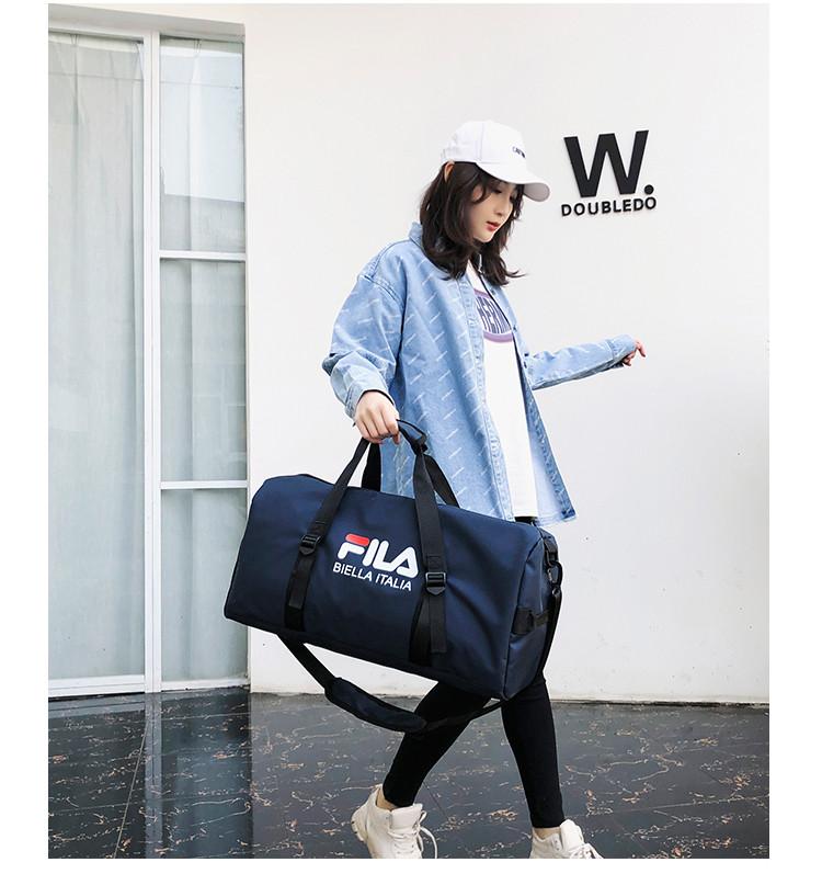 Спортивная сумка  Fila темно-синяя (реплика)