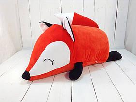 Мягкая игрушка подушка валик Strekoza Фокси 60 см красный большая