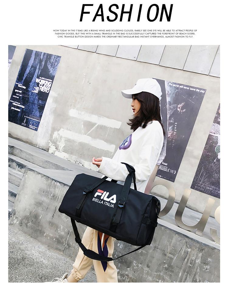 Спортивная сумка  Fila черная (реплика)