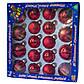 Набор елочных шаров, 18 шт., стекло, красный снежинки(390274-3), фото 2