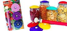 Вакуумные крышки для консервации и долгого хранения продуктов ВАКС (В наборе 9 крышек), фото 2
