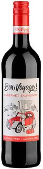 Безалкогольное вино Каберне Совиньон красное полусладкое Бон Вояж (Bon Voyage)