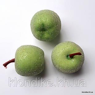 Яблочко в сахаре, пенопласт, 2.5 см, Цвет: Зелёный