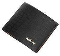 Чоловічий гаманець BAELLERRY DR024 Young Style Short портмоне Чорний (SUN5157), фото 1
