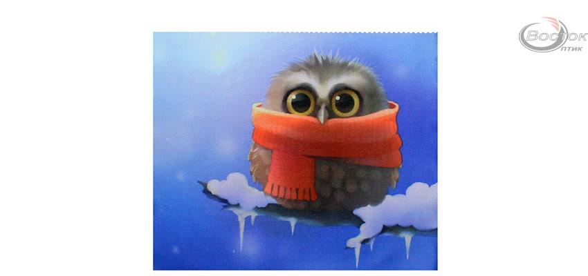 Салфетка для очков с рисунком, птичка, размер 18*15