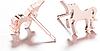 Нові метал сережки сережки єдиноріжки єдиноріг конячка кінь золотисті гвоздики дитячі китай, фото 3