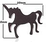 Нові метал сережки сережки єдиноріжки єдиноріг конячка кінь золотисті гвоздики дитячі китай, фото 4