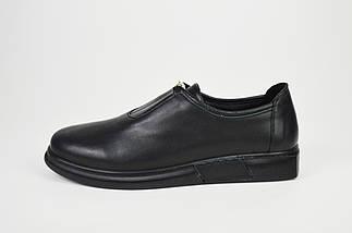 Туфли кожаные черные на плоской подошве Molly Bessa 4021, фото 2