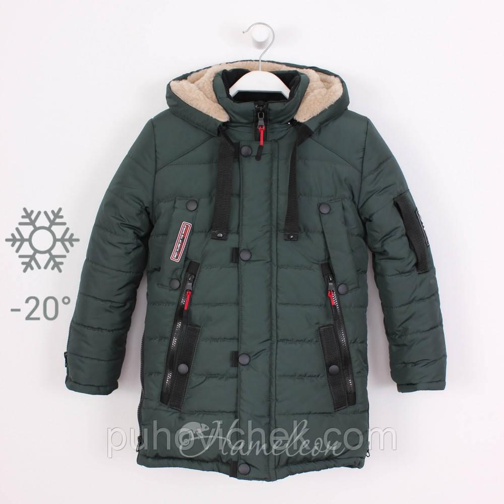 Куртка зимняя для мальчика на овчине интернет магазин