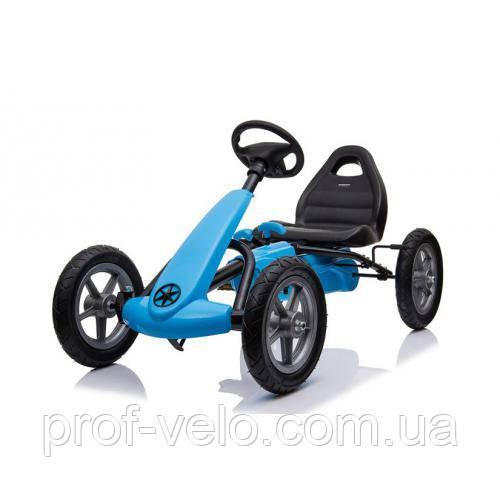 Дитячий педальний КАРТ M 4120-4 СИНІЙ (веломобіль)