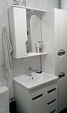 Зеркало для ванной комнаты Альвеус 60-01 Врезная Ручка левое ПИК, фото 3