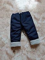 Штанишки с манжетами из плащевки на флисовом подкладе с шнуром Штанці дитячі на флісовій підкладці з плащівки